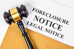 Gavel and foreclosure notice