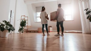 People moving in empty home
